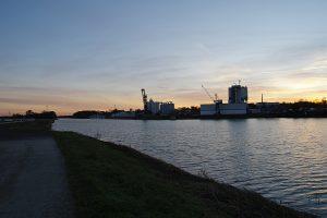 Hafen am Main-Donau-Kanal in Erlangen