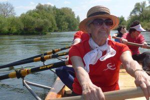 Rudern zum 85. Geburtstag von Ilse Ludwig