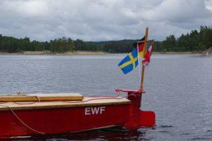 "Barke ""SEKU"" in Schweden (Foto: Arne Borsum)"