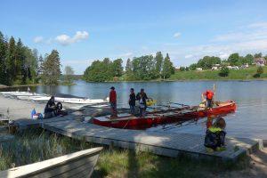 Start der Rudertour in Bengtsfors (Foto: Arne Borsum)