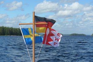 EWF-Beflaggung in Schweden (Foto: Arne Borsum)