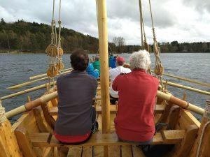 Testfahrt mit dem Römerschiff FAN auf dem Dechsendorfer Weiher (Foto: Janka Borsum)