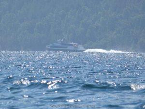 Das ist alles, was wir heute an anderen Booten sahen.