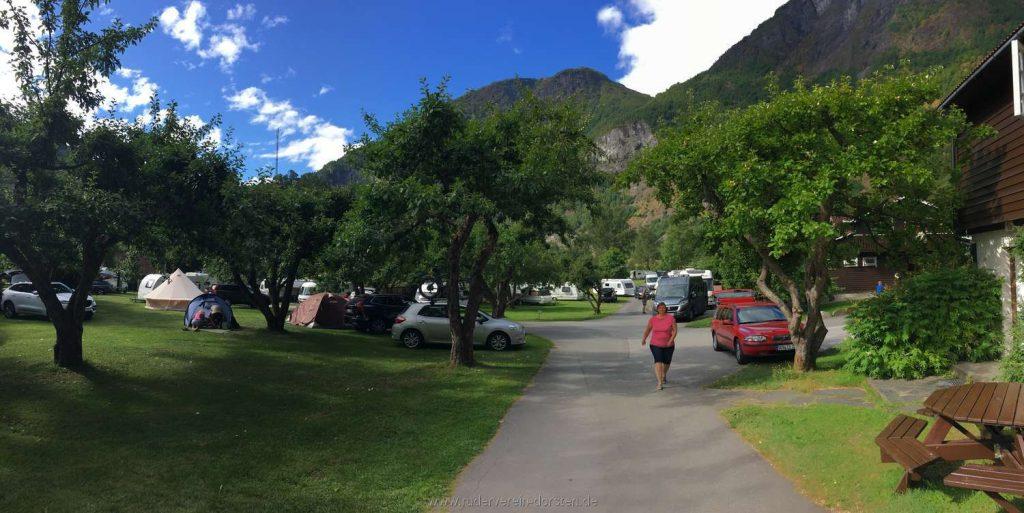 ein herrlicher Campingplatz hier in Flåm