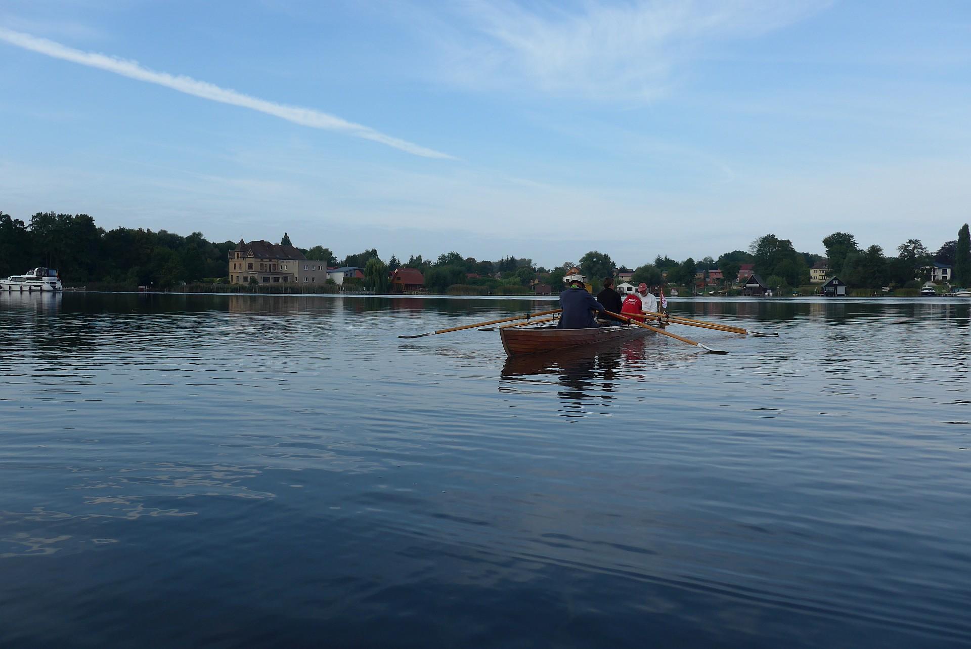 Rudern auf dem Mirower See