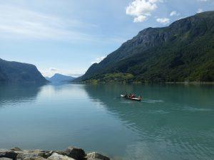 Skjolden, der hinterste Punkt des Sognefjords