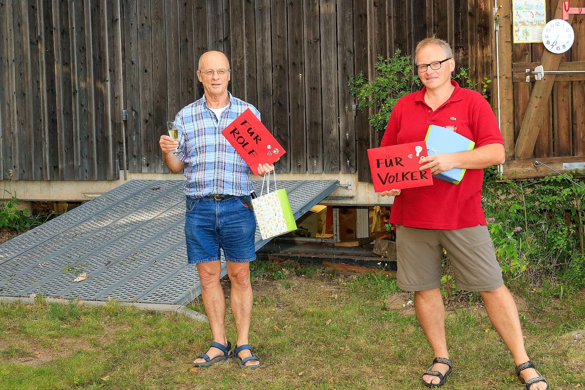 Geburtstag von Rolf Baßler und Volker Wunderlich