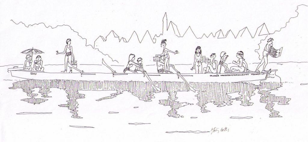 Barke Zeichnung