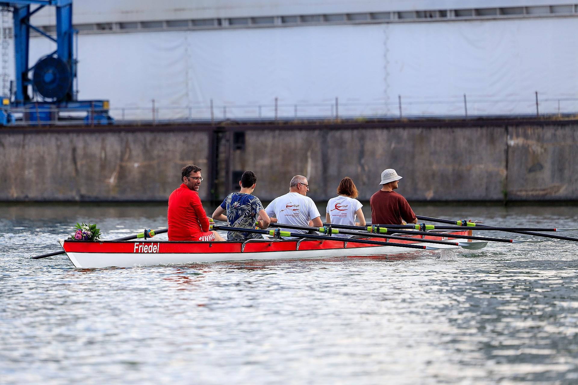 """Jungfernfahrt des Bootes """"Friedel"""" auf dem Main-Donau-Kanal"""
