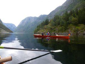 Rudern auf dem Sognefjord